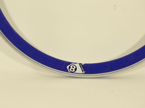 Origin8 Trak Attak Deep-V Gloss Blue 32 Hole 700c rim w//MSW Fixie Track  O8 21