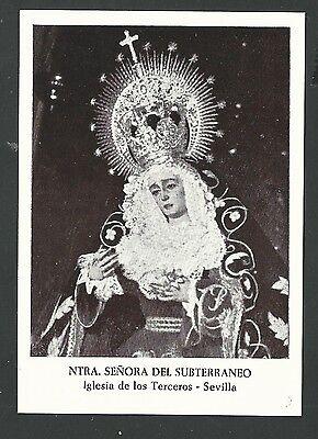Activo Estampa Antigua De La Virgen Andachtsbild Santino Holy Card Santini