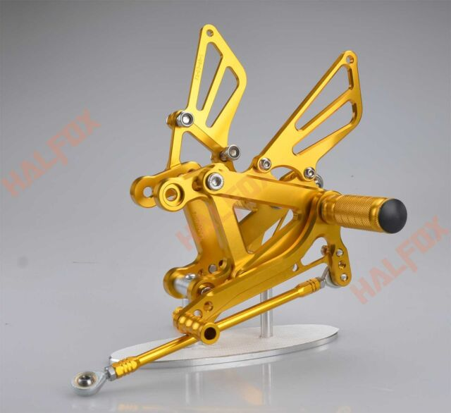 Gold cnc Rearset Foot pegs Rear set For Kawasaki NINJA ZX6R 03-04  ZX636