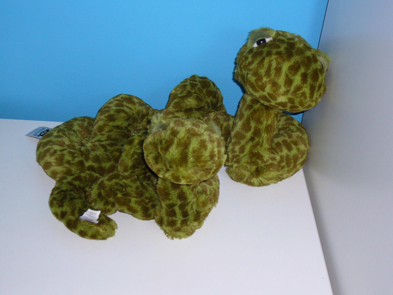 Set Collection of 2 Jellycat Sebastian Snakes Snake Soft Beanie Toys Green