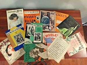 Details about Antique Sheet Music Lot (12) songs-Great Artwork!!
