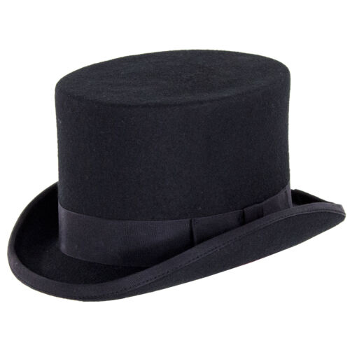 Black Denton Hats Wool Felt Top Hat