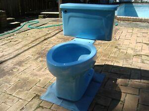 Incredible Details About Vintage Kohler 1978 New Orleans Blue Elongated Toilet Kohler K4520 Bralicious Painted Fabric Chair Ideas Braliciousco