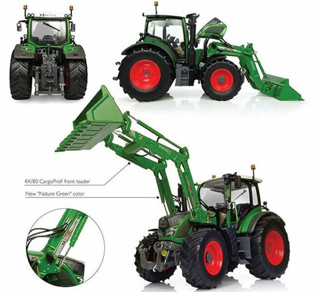 Fendt 516 Vario With Front Loader Trattore Tractor 1 32 Model 4981