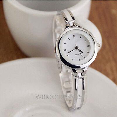 Fashion Vintage Women Bracelet Wrist Watch Analog Bangle Chain Quartz watches BJ