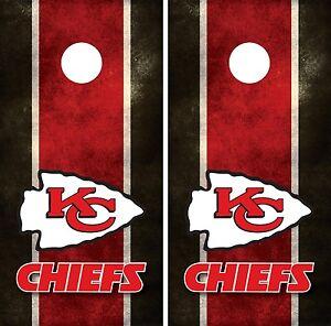 Kansas City Chiefs Cornhole Board Decal Wrap Wraps Ebay
