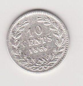 10-Cent-1868-Nederland-WILLEM-3-Lastig-jaartal