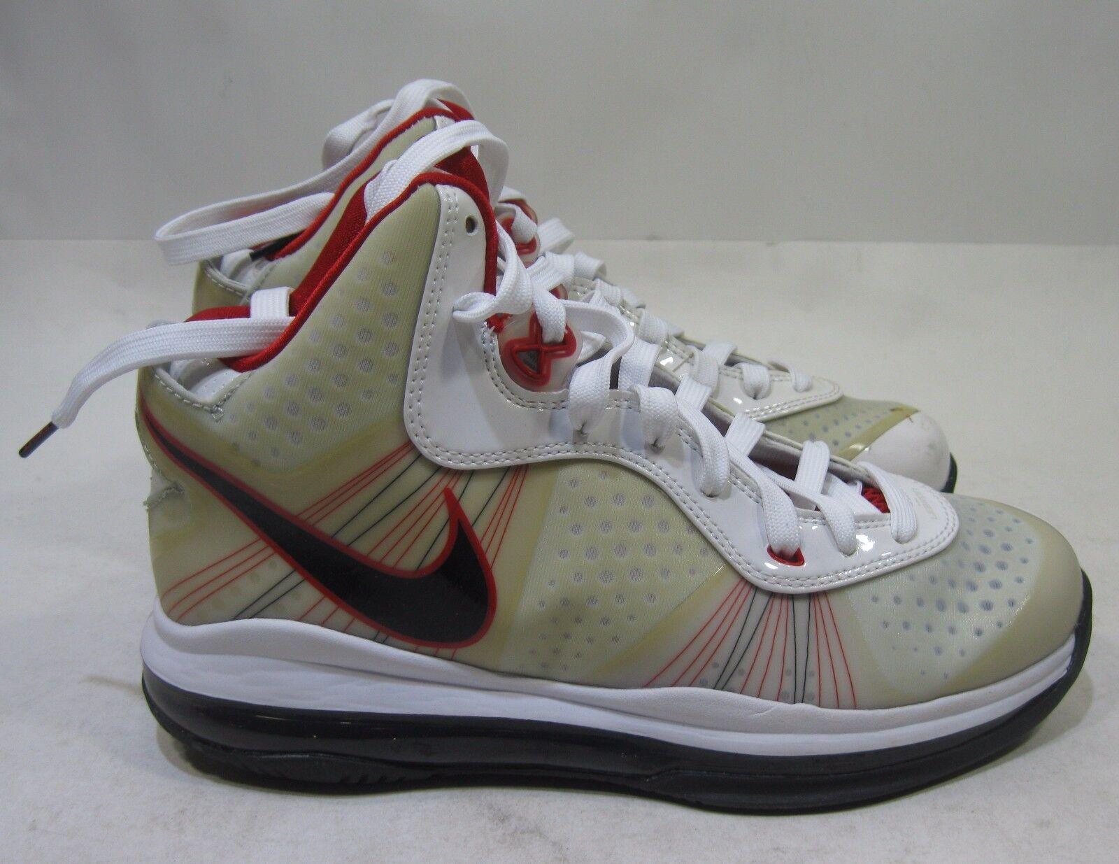 Nike Air Max Lebron VIII 8 V / 2 G Weiß Schwarz Σπορ Rot Grau 431888-100 ΞœΞΞ³Ξ΅ΞΈΞΏΟ' 6