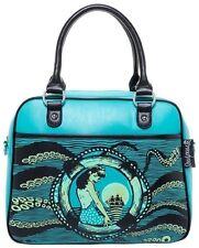 Sourpuss Tentacled Bowler Handbag NEW Pin Up Pink Rockabilly Mermaid Tiki Kraken