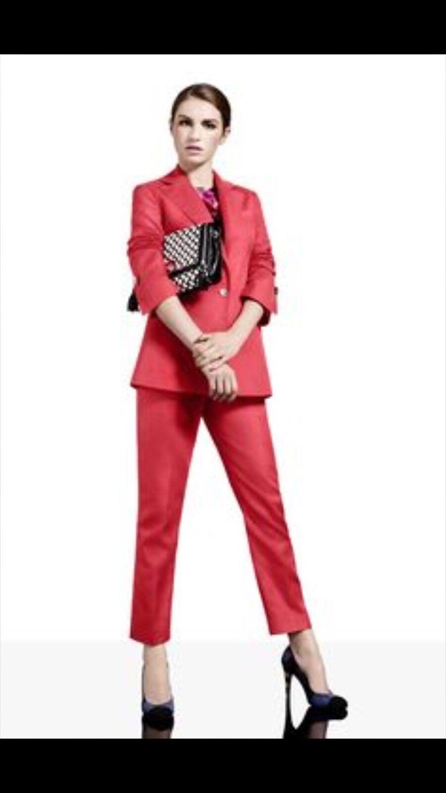 Karen Millen Coral Colour Trouser Size 6uk