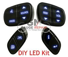 GM Steering Wheel Controls Switches Bulb to Blue LED Upgrade KIT Easy DIY Kit