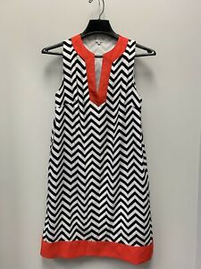 Ladies-Size-Small-Mud-Pie-Red-Black-white-Chevron-Dress-Game-day
