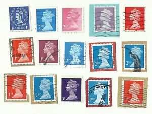 UK-Royal-Mail-Postage-Stamps-with-perforation-shift-errors-x-15-Batch-3