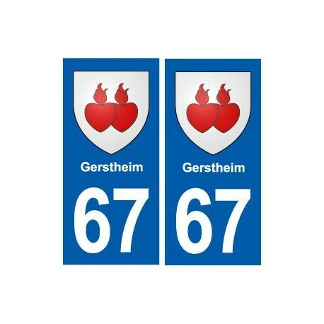 67 Gerstheim blason autocollant plaque stickers ville droits