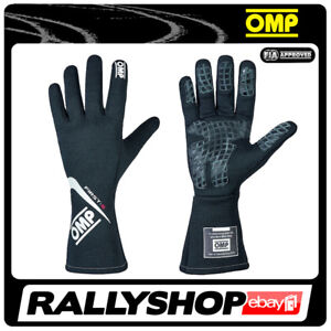 FIA OMP FIRST-S RACE first s Karthandschuh Handschuhe Professionell Schwarz