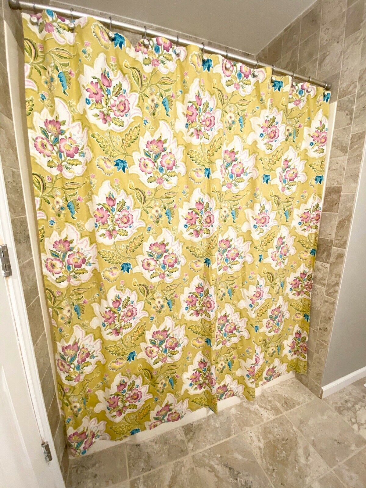 Aqua And Green Underwater Floral Valeda Shower Curtain White By World Market For Sale Online Ebay