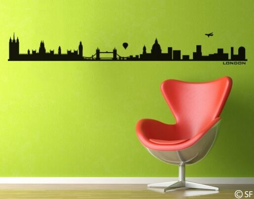 Wandtattoo London Skyline City Stadt England uss052