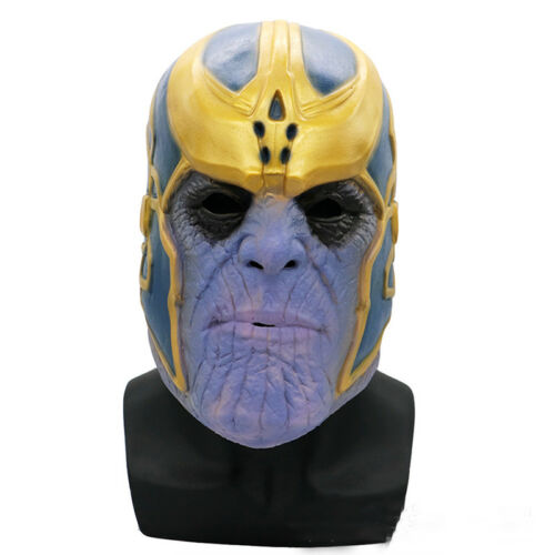 Marvel Avengers Infinity Krieg Thanos Maske Cosplay Kostüm Helm Halloween Masken