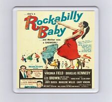 Vintage Music Movie Poster Drink Coaster - Rockabilly Baby