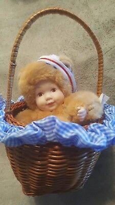 Anne Geddes baby bear in Basket Avon New