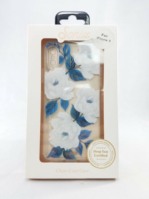 save off bddd1 6d059 Sonix Clear Coat Case for Apple iPhone X - Floral Sapphire Bloom