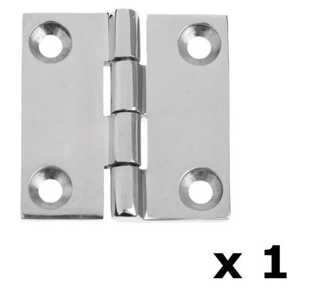 1 x Butt Door Hinge 50mm 316 Marine Grade Stainless Steel Polished DIY Caravan