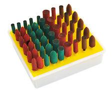 50 Rubber Abrasive Points Burr 3mm Shank, Dremel, Proxon, Minicraft Drill. X1219