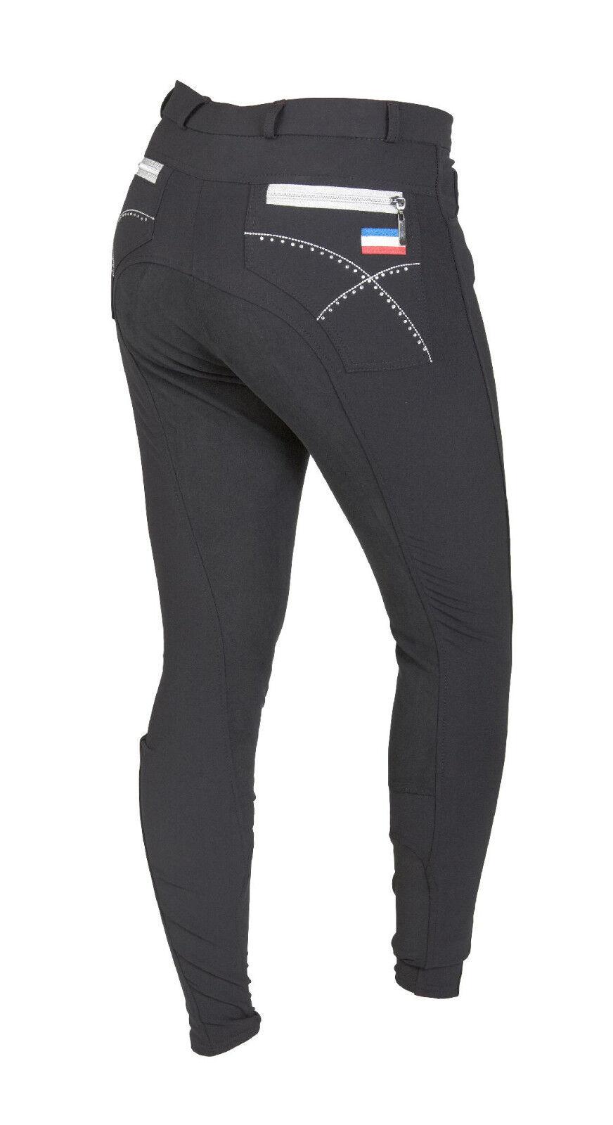 Montar donna Pantaloni Montala con guarnizione in pieno, nero, tg. 40, art.2029-4 con strass