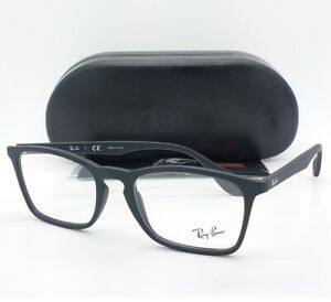 7deee5bbf6 NEW Rayban Rx Frame Matte Black RX7045 5364 53mm 7045 AUTHENTIC ...