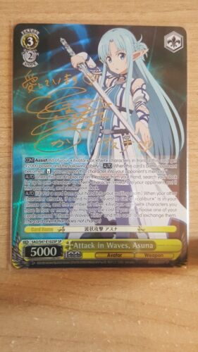 Weiss Schwarz Sword Art Online Re:Edit Signed Asuna SAO/S47-102SP SP