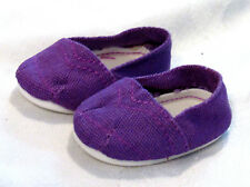 "American My Life Clothes PURPLE Canvas Shoes 18"" Doll Girl Our Generation NEW"