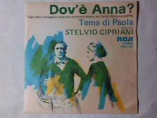 """STELVIO CIPRIANI Dov'e' Anna? 7"""" COLONNA SONORA"""
