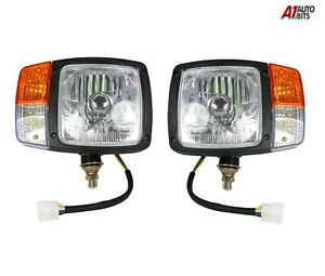 L-R-Universal-Headlights-Headlamps-Indicator-Lamps-For-Tractor-Excavator-Wired