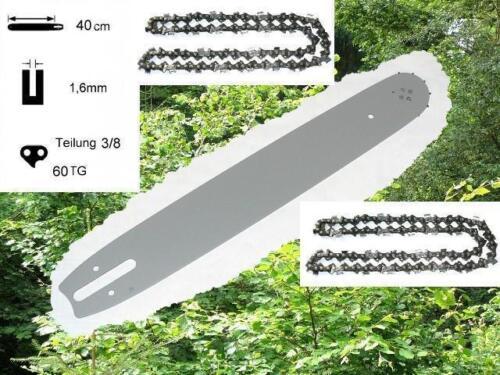 40cm Schwert Schiene 2 Ketten passend f Stihl 036 MS360