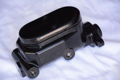 "BLACK 7/"" Dual Power Brake Booster /& Flat Top Master Cylinder street rod gm chevy"