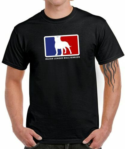 MAJOR LEAGUE BULLTERRIER 2 T-SHIRT MLB Satire Hund Terrier Pitbull Zucht Fun