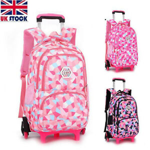 Image Is Loading Uk Children Trolley Backpack With 2 Wheels S