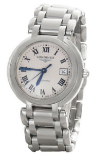 Longines Primaluna White Dial Silver Stainless Steel Automatic Watch 48524182