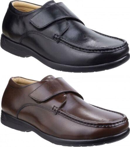 Fleet /& Foster FRED homme véritable qualité CUIR Touch Attache Chaussures De Loisirs