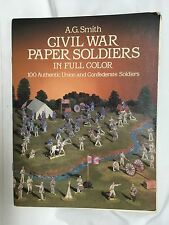 CIVIL WAR PAPER SOLDERS AUTHENTIC UNION  & CONFEDERATE SOLDIERS 1985 incomplete
