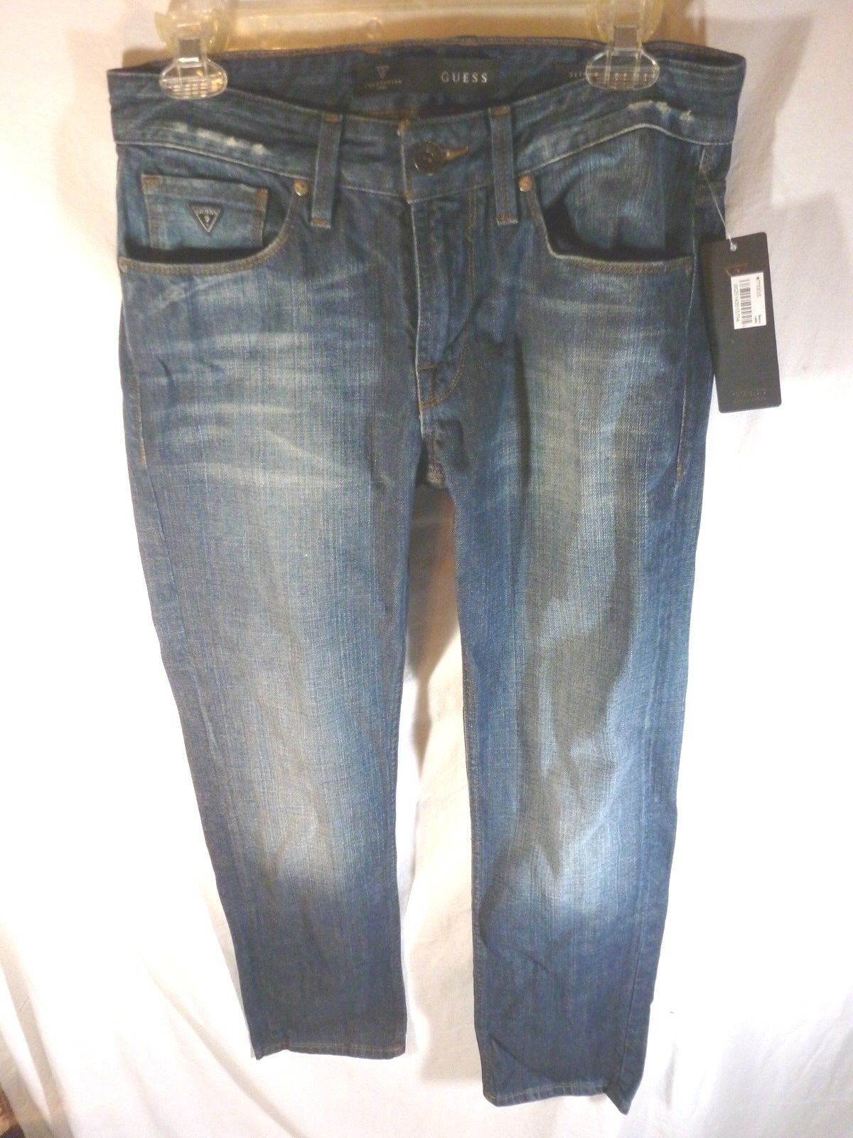 Men's Guess Jeans Slim Straight Fit Distressed Wash, 29 x 30, NWT