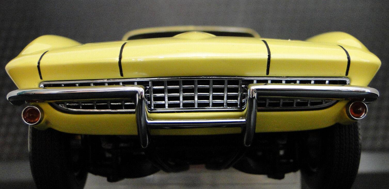 1 1965 Corbeta Chevy Corvette Sport Car 43 Vintage 18 carrera 24 carrusel giallo 12