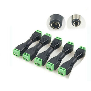 10x-DC-12V-Power-Plug-Adapter-Connector-For-5050-3528-LED-Strip-Power