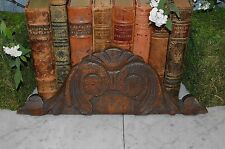 Antique Small French Carved Wood Pediment Cornice