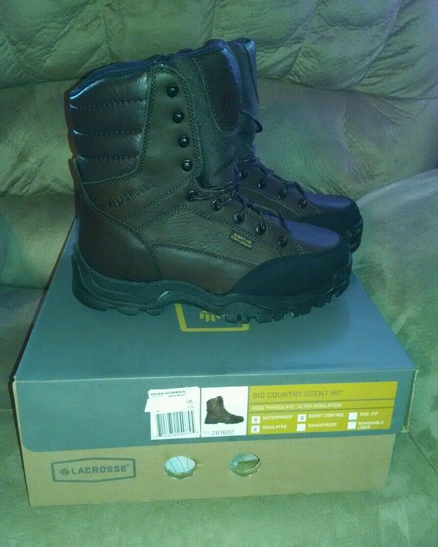 LACROSSE 10  BIG COUNTRY MENS 400g  WATERPROOF BOOTS SIZE 7 Med NEW SAVE