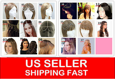 Metal Rhinestone Head Chain Jewelry Headband Head Piece Hair band SEXY HOT NEW