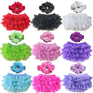 New-Baby-Bloomers-Diaper-Cover-Headband-Set-Newborn-Ruffle-Lace-Infant-Shorts