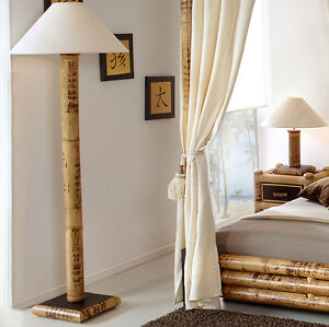 bambus stehlampe misool standleuchte stehleuchte standlampe deko lampe holz neu ebay. Black Bedroom Furniture Sets. Home Design Ideas