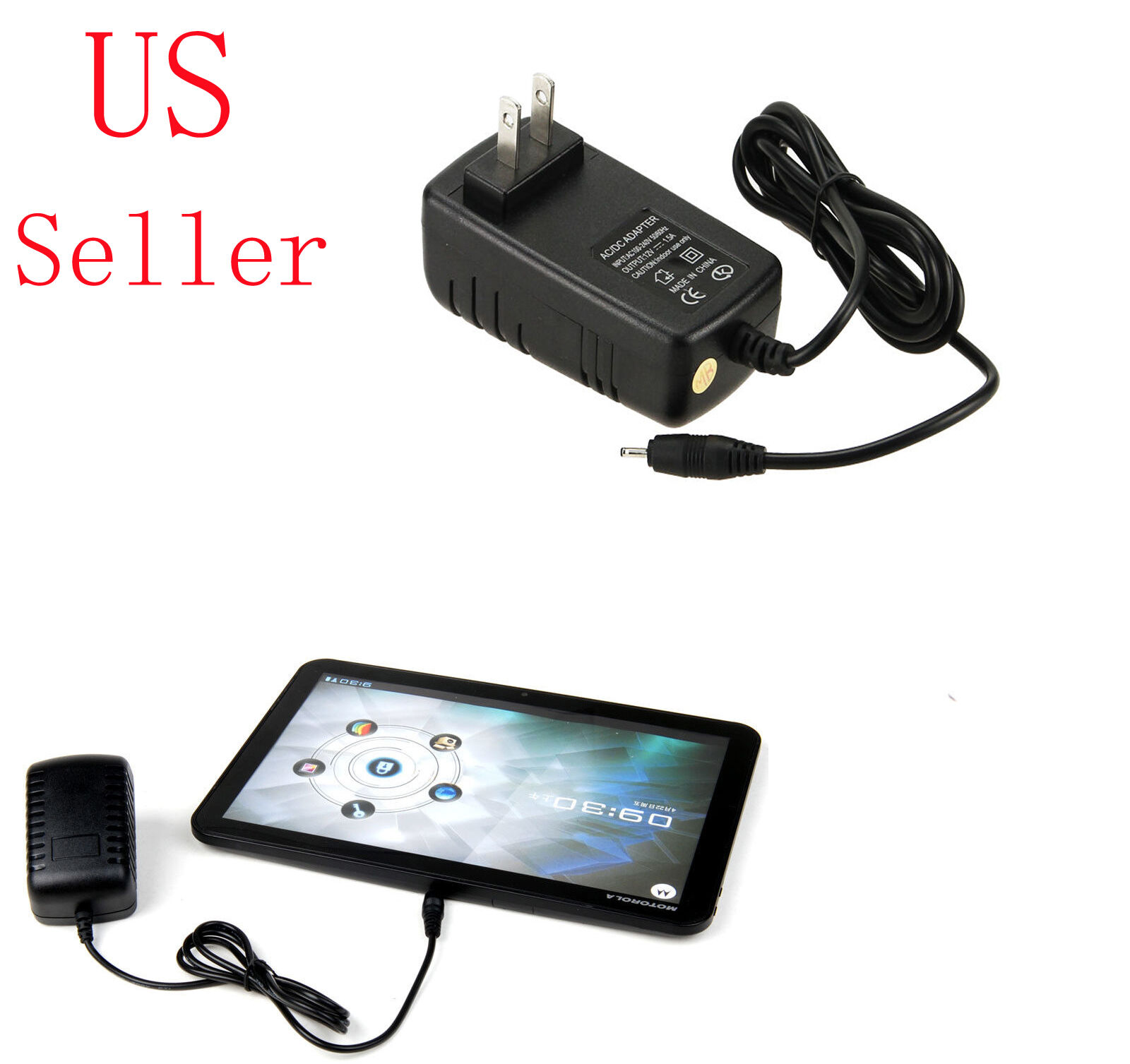 AC Adapter Home Wall International Charger for Motorola Xoom Family Edition FE