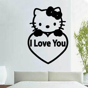 Vinilos Hello Kitty Pared.Detalles De Hello Kitty I Love You De Vinilo De Etiquetas De Pared Rom22 Ver Titulo Original